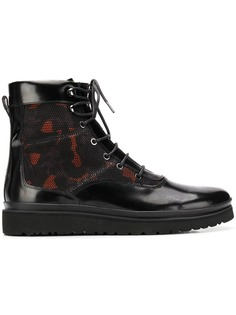 Emporio Armani армейские ботинки с камуфляжным узором