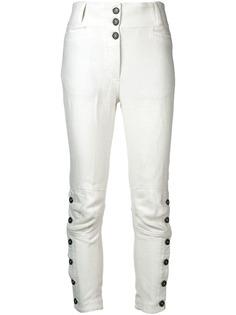 Ann Demeulemeester брюки кроя слим с пуговицами на манжетах