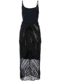 Christian Siriano приталенное платье с пайетками