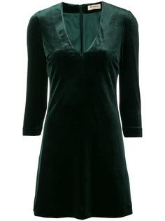Blanca бархатное платье с V-образным вырезом