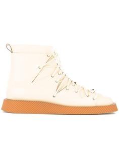 Jil Sander ботинки по щиколотку на плоской подошве