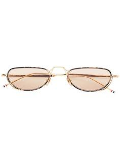 Thom Browne Eyewear овальные солнцезащитные очки