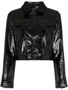 Ksubi лакированная укороченная куртка A2B