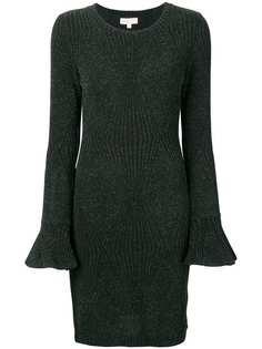 Michael Michael Kors облегающее платье с эффектом металлик