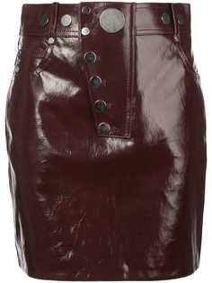 Alexander Wang лакированная мини юбка