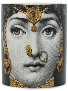Fornasetti свеча в стакане с принтом лица