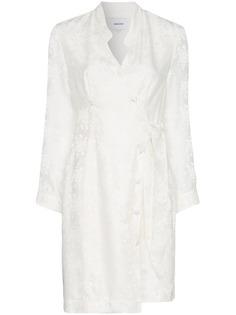 Nanushka платье с запахом и V-образным вырезом Suren