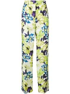 MSGM брюки прямого кроя с цветочным рисунком