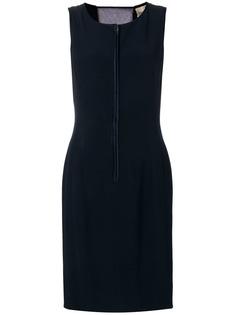 Valentino Vintage облегающее платье с прозрачной вставкой