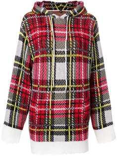 R13 клетчатый свитер с капюшоном