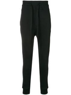 Ann Demeulemeester спортивные брюки с заниженным шаговым швом