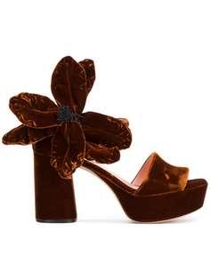 Rochas босоножки с крупным цветком
