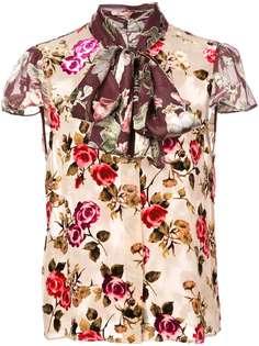 Alice+Olivia Jeannie bow-collar blouse