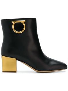 Salvatore Ferragamo logo ankle boots