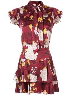 Alice+Olivia платье с цветочным принтом и завязками