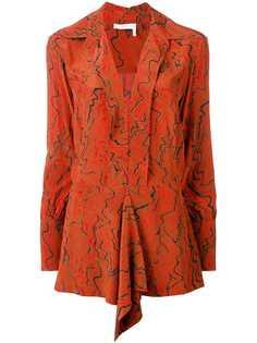 Chloé блузка с абстрактным принтом