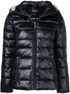 DKNY пуховая куртка с капюшоном