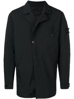 Stone Island куртка со смещенной застежкой на пуговицах