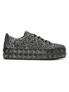 Emporio Armani кроссовки на платформе с блестками