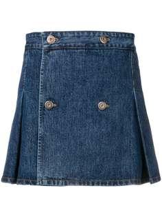 Matthew Adams Dolan джинсовая юбка со складками