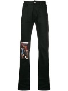 Raf Simons джинсы с нашивкой Christiane F.