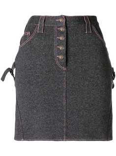 Christian Dior Vintage мини юбка с деталями