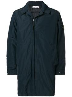 Stone Island concealed fastening rain coat