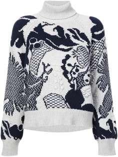 Barrie пуловер с высоким воротом Stencil Garden