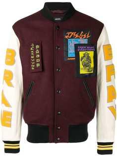 Diesel куртка-бомбер в университетском стиле