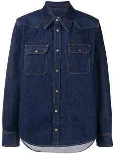 Calvin Klein 205W39nyc джинсовая рубашка в стиле вестерн