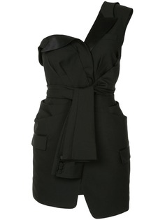 Alexander Wang деконструированное платье-смокинг с завязками-рукавами
