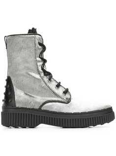Tods ботинки с мехом