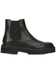 Neil Barrett ботинки с рисунком молнии