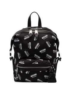 Moschino рюкзак со сплошным принтом с логотипами