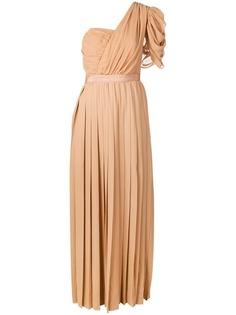 Self-Portrait плиссированное платье с открытыми плечами
