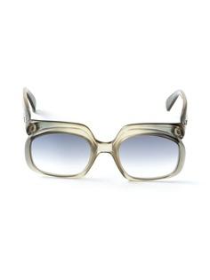Christian Dior Vintage овальные солнцезащитные очки