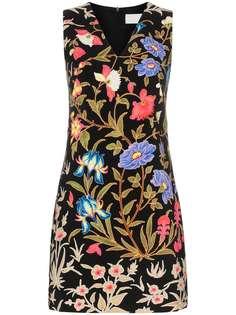 Peter Pilotto платье мини с цветочным принтом