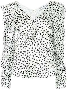 Self-Portrait расклешенная блузка с принтом