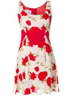 Moschino Vintage платье мини с цветочным принтом