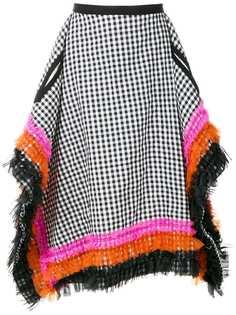 Comme Des Garçons Vintage юбка в клетку асимметричного кроя