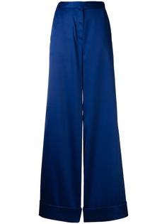 Self-Portrait широкие сатиновые брюки