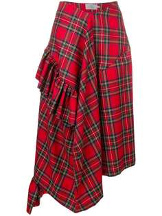 174a264760d Preen By Thornton Bregazzi асимметричная юбка Morgan в клетку тартан