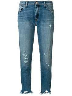 J Brand укороченные джинсы с эффектом потертости