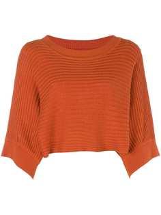 Issey Miyake Vintage укороченная вязаная блузка