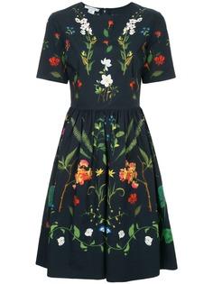 Oscar de la Renta платье с цветочным принтом