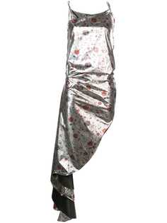 Marquesalmeida асимметричное платье с цветочным принтом