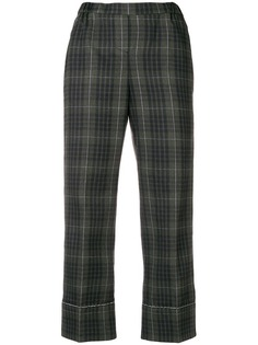 Nº21 checked print cropped trousers