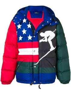 Polo Ralph Lauren пуховая куртка с миксом принтов