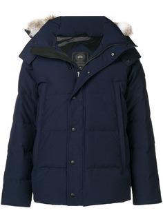 Canada Goose куртка с капюшоном с меховой оторочкой
