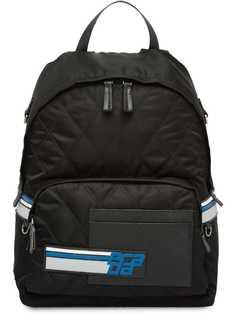 Prada стеганый рюкзак с логотипом